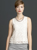 Banana Republic Mad Men Lace Shell