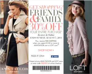 Ann Taylor Friends and Family