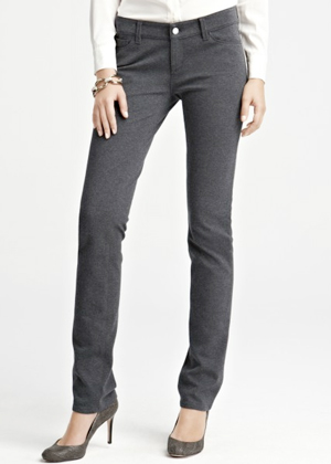 Ann Taylor Petite Slim Knit Pants Grey
