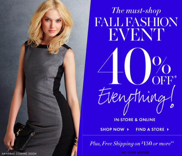 Yes! 40% Off At Ann Taylor Starts Today!
