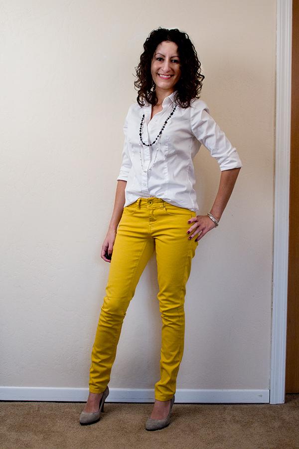ASOS Petite Mustard Skinny Jeans