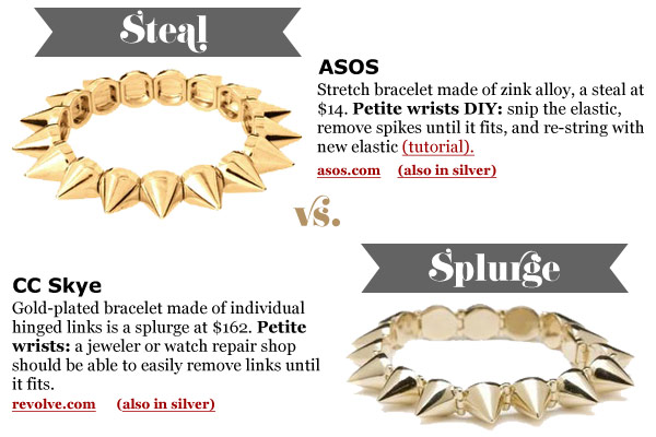 Bracelets for Small Wrists: Tough Spikes (At Two Price Points)