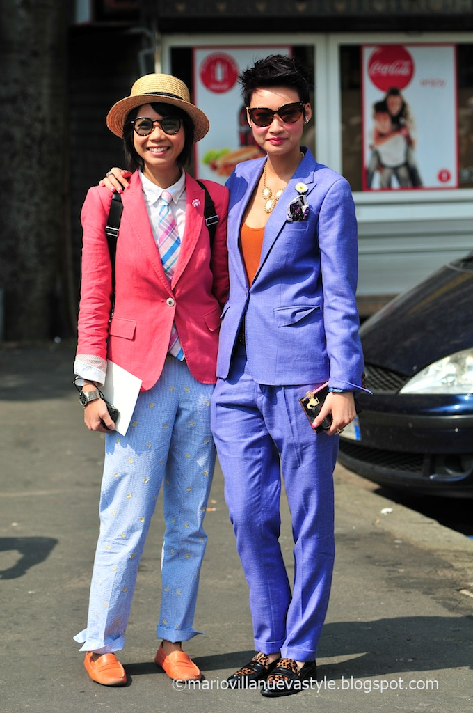 Esther Quek and Janie Cai Street Style
