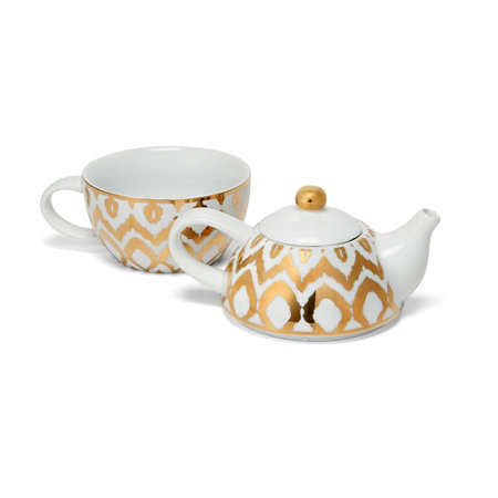Ikat tea set for one