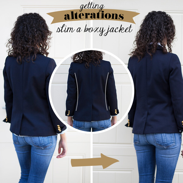 Adventures in Alterations: Slim a Boxy Jacket