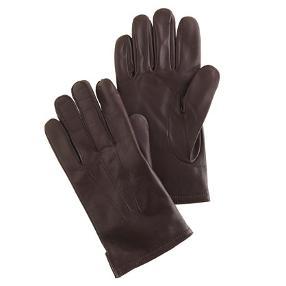 These men's gloves are cashmere lined and smartphone touchable