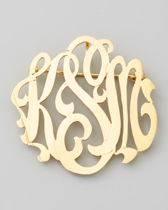 I love this monogram brooch