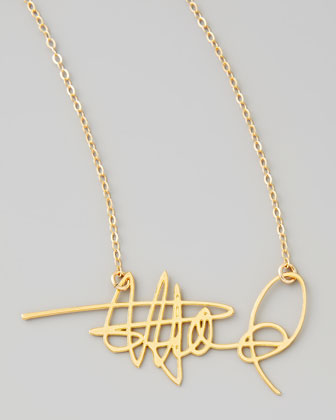 A custom necklace of your signature