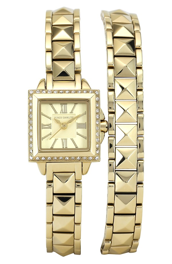 Cool studded wrap watch!