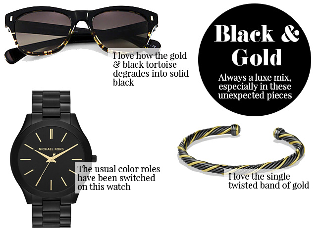 Currently Coveting – Unexpected Black and Gold