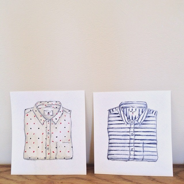 Perfect shirt illustrations at the @californiatailor studio. The actual shirts are pretty perfect too. ;)