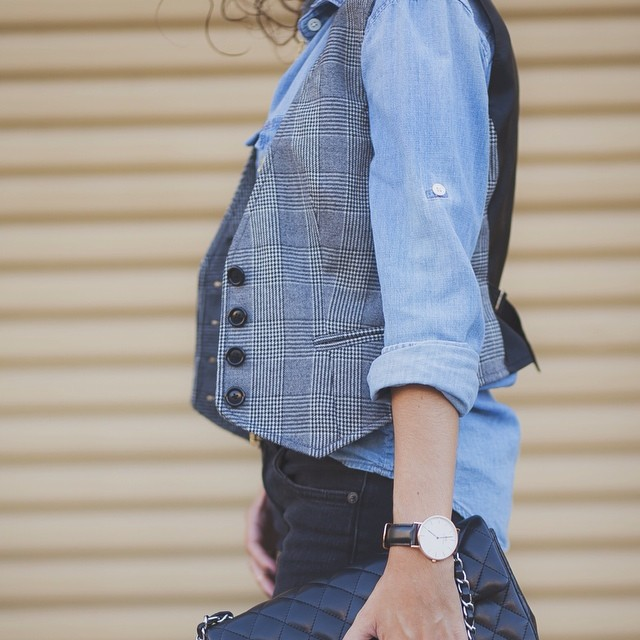 Chambray & glen plaid :: on the blog