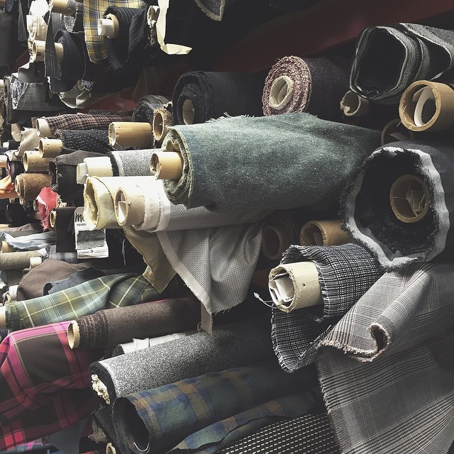 Wool & tweed & herringbone, oh my! Spent some time at Mood Fabrics in LA yesterday (& may have hugged all the wooly bolts of fabric). ?