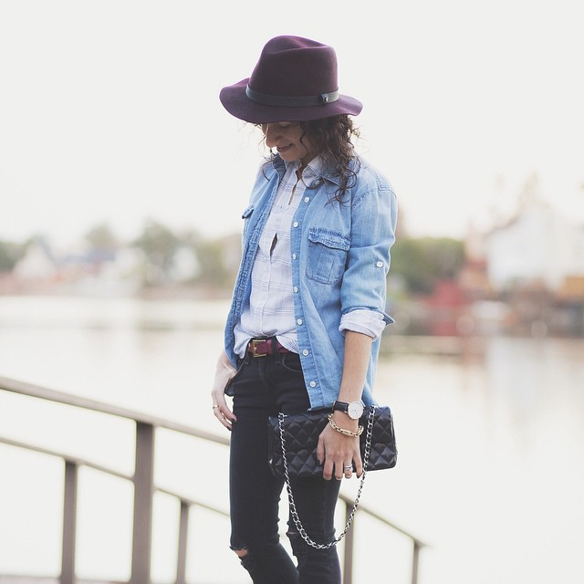 Pairing rugged chambray with sophisticated burgundy on the blog today :: @liketoknow.it www.liketk.it/Qc2c #liketkit