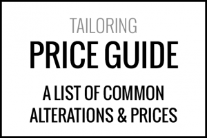 Tailoring alterations price guide