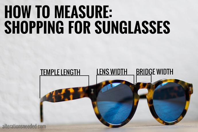 how to measure sunglasses