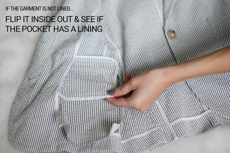 How to open clothing pockets