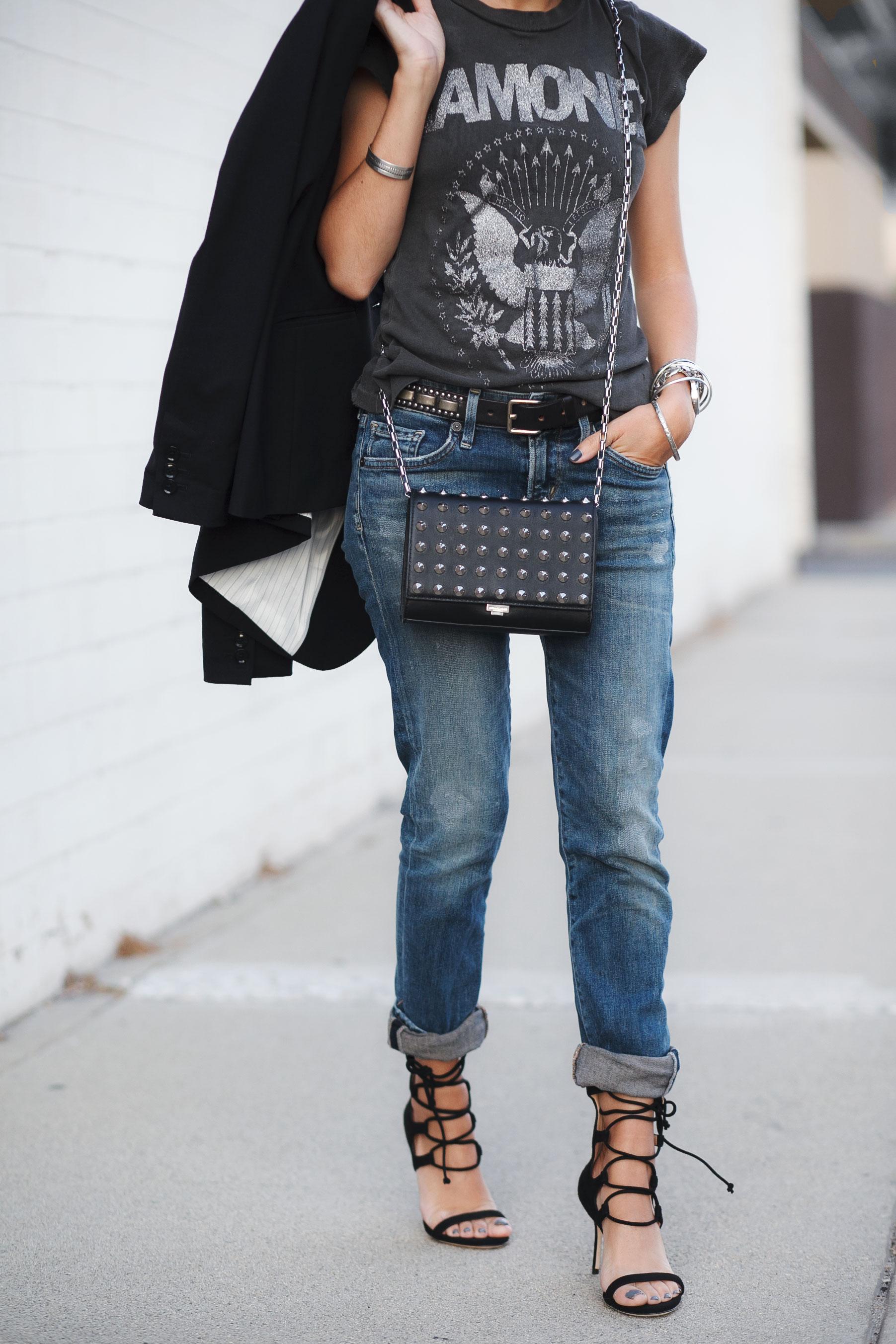 Edgy Sandals + Boyfriend Jeans