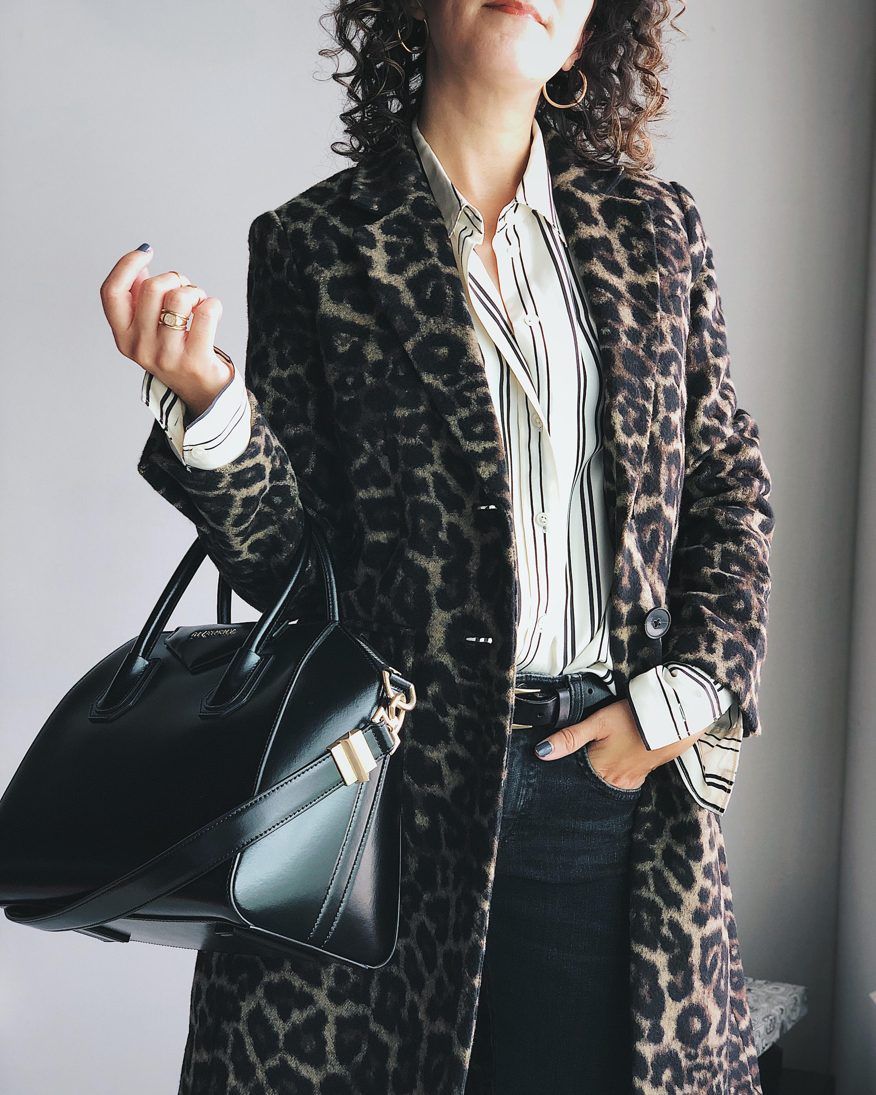 Banana Republic leopard top coat
