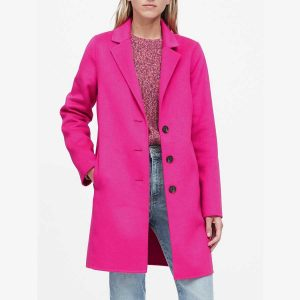 Banana Republic Petite Hot Pink Coat