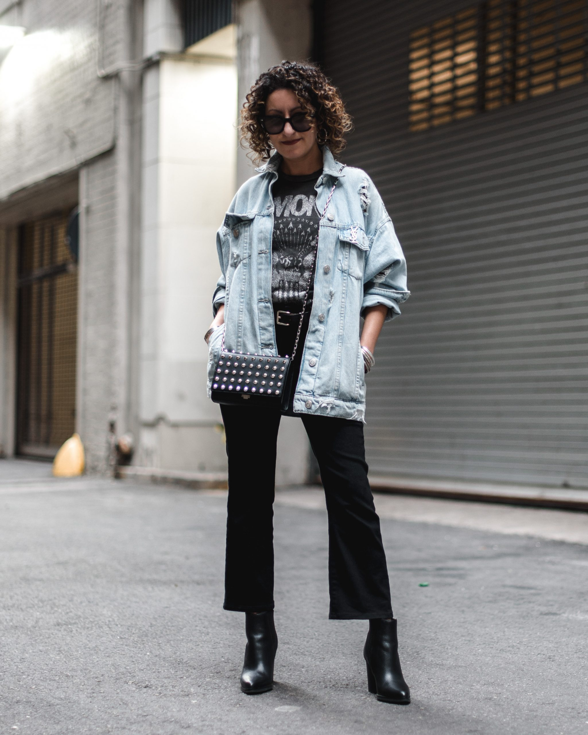 oversized denim jacket zara madewell cali boot jeans petite