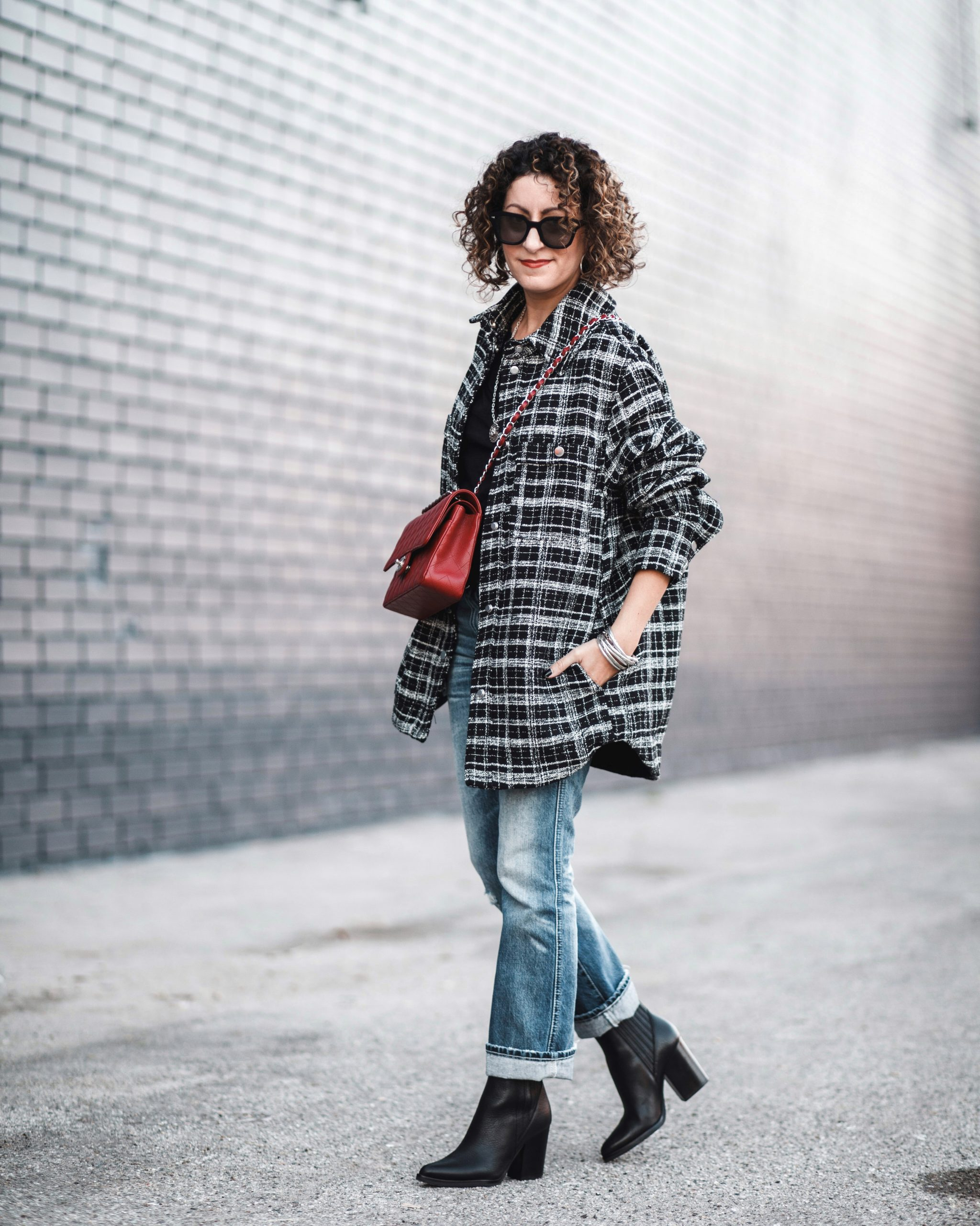 Plaid Shirt Jacket (& Tips For Styling Oversized Items)