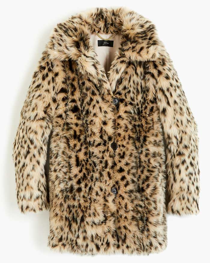 jcrew leopard coat