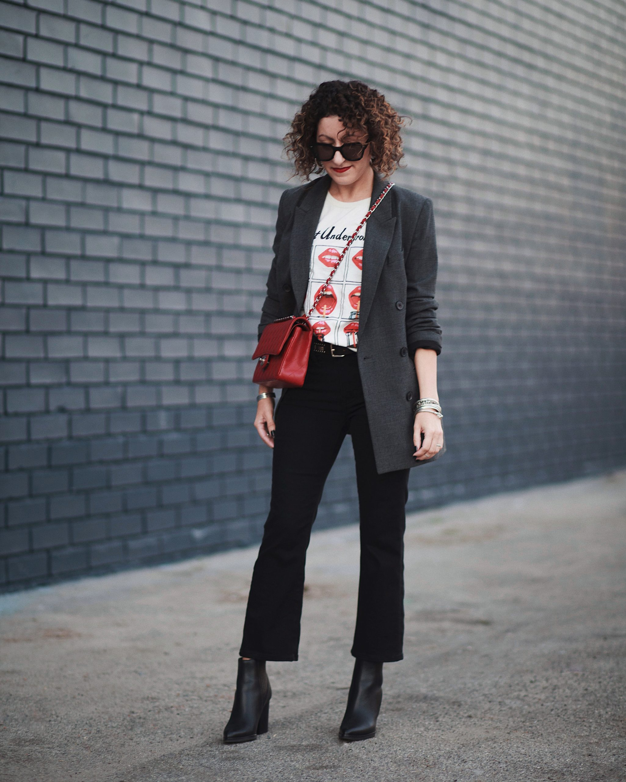 Pops of Red For Valentine's Day & A Look At The Madewell Demi-boot in Petite
