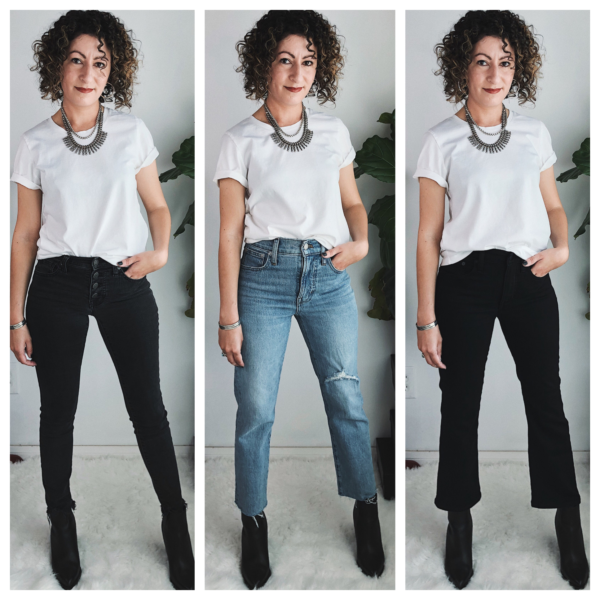 Madewell Petite Denim Review & Try-On: Skinny, Demi-Boot, & Perfect Vintage