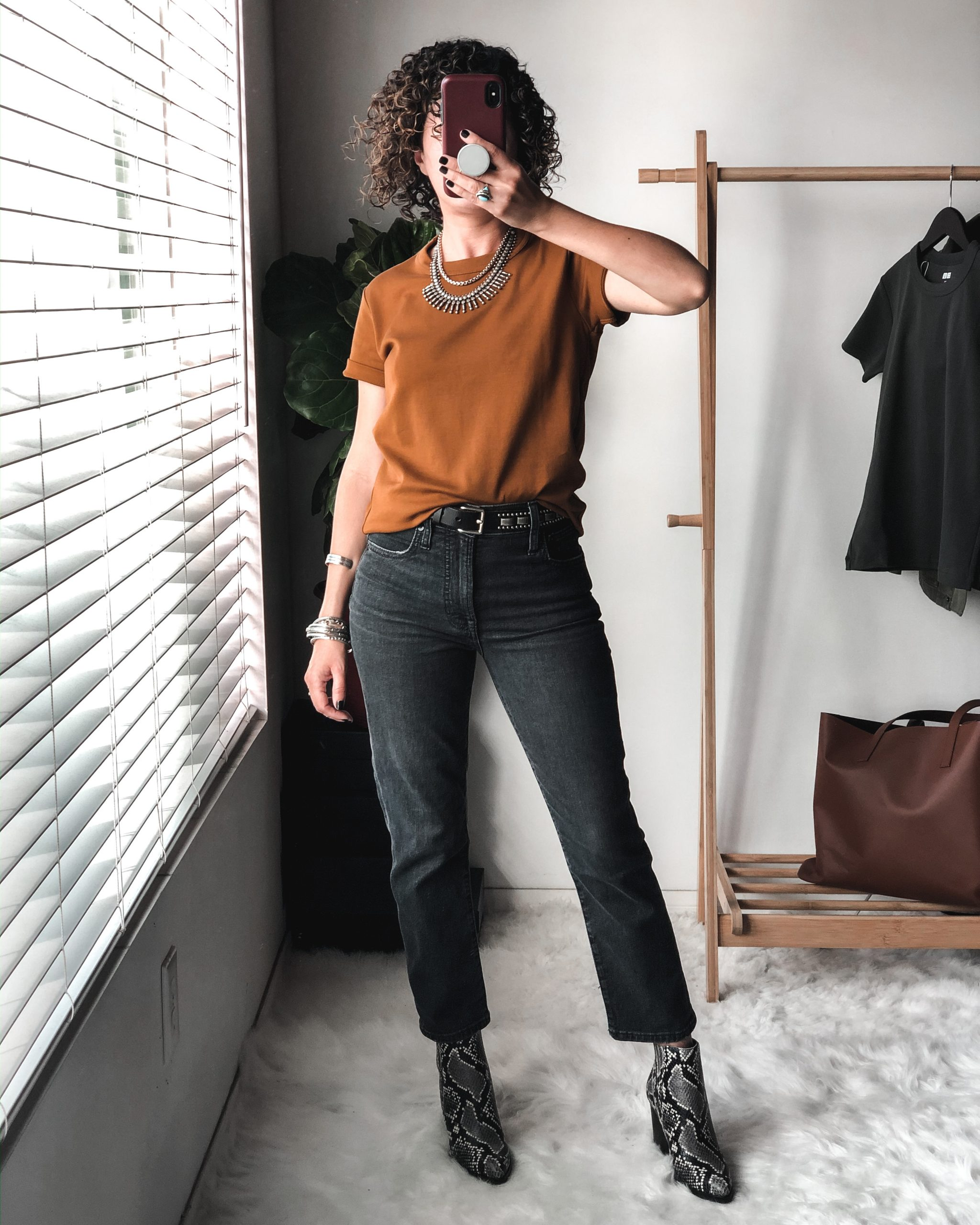 Uniqlo U Crew Neck Tee Outfit Idea for Petites