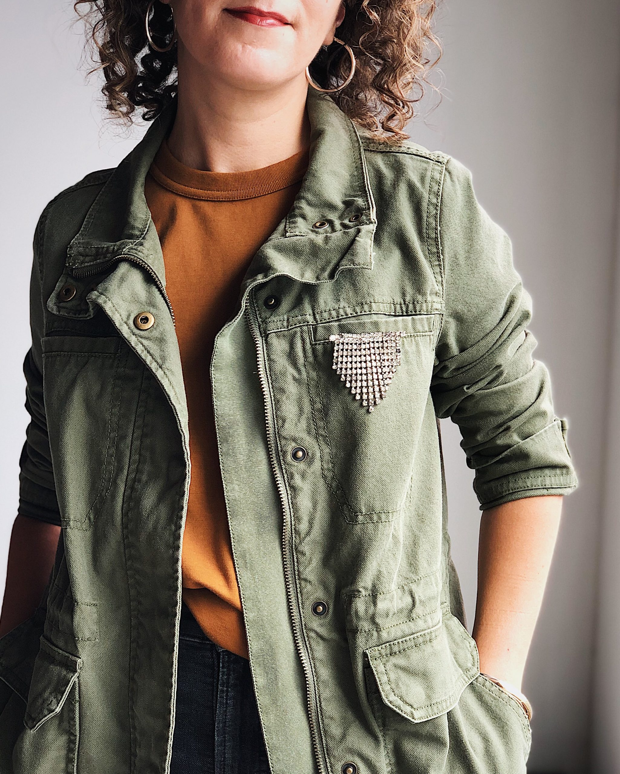 Madewell utility jacket outfit