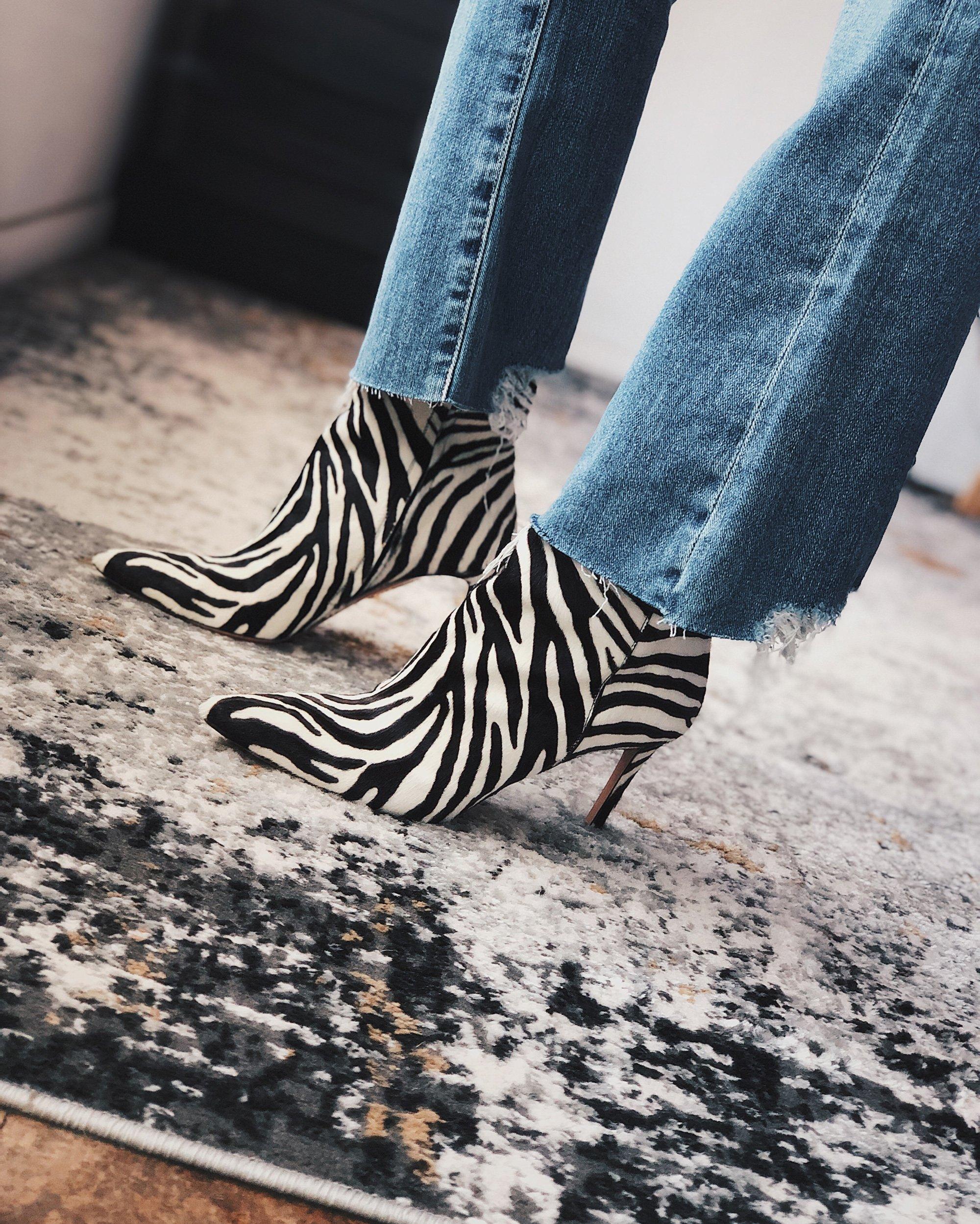 Zebra Boots