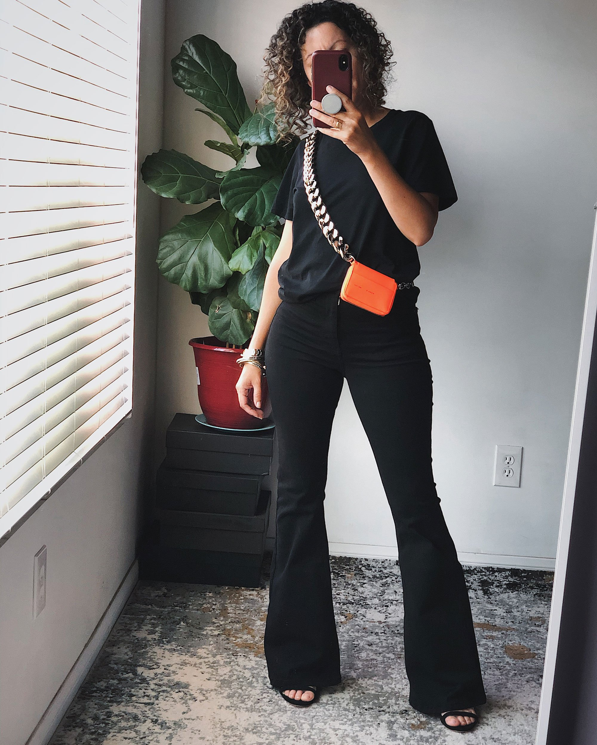 Styling Black Flare Jeans: Day 1