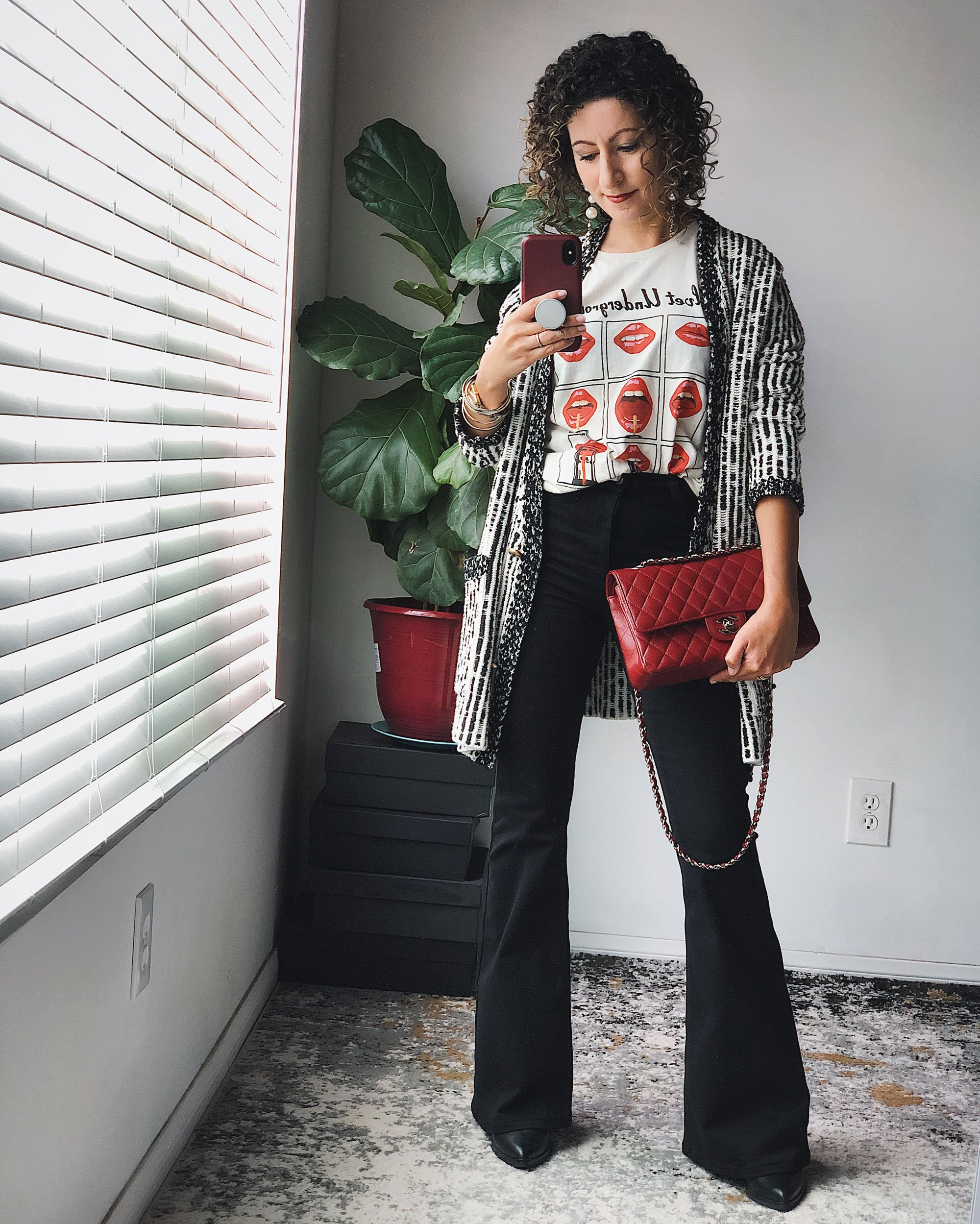 Styling Black Flare Jeans: Day 2