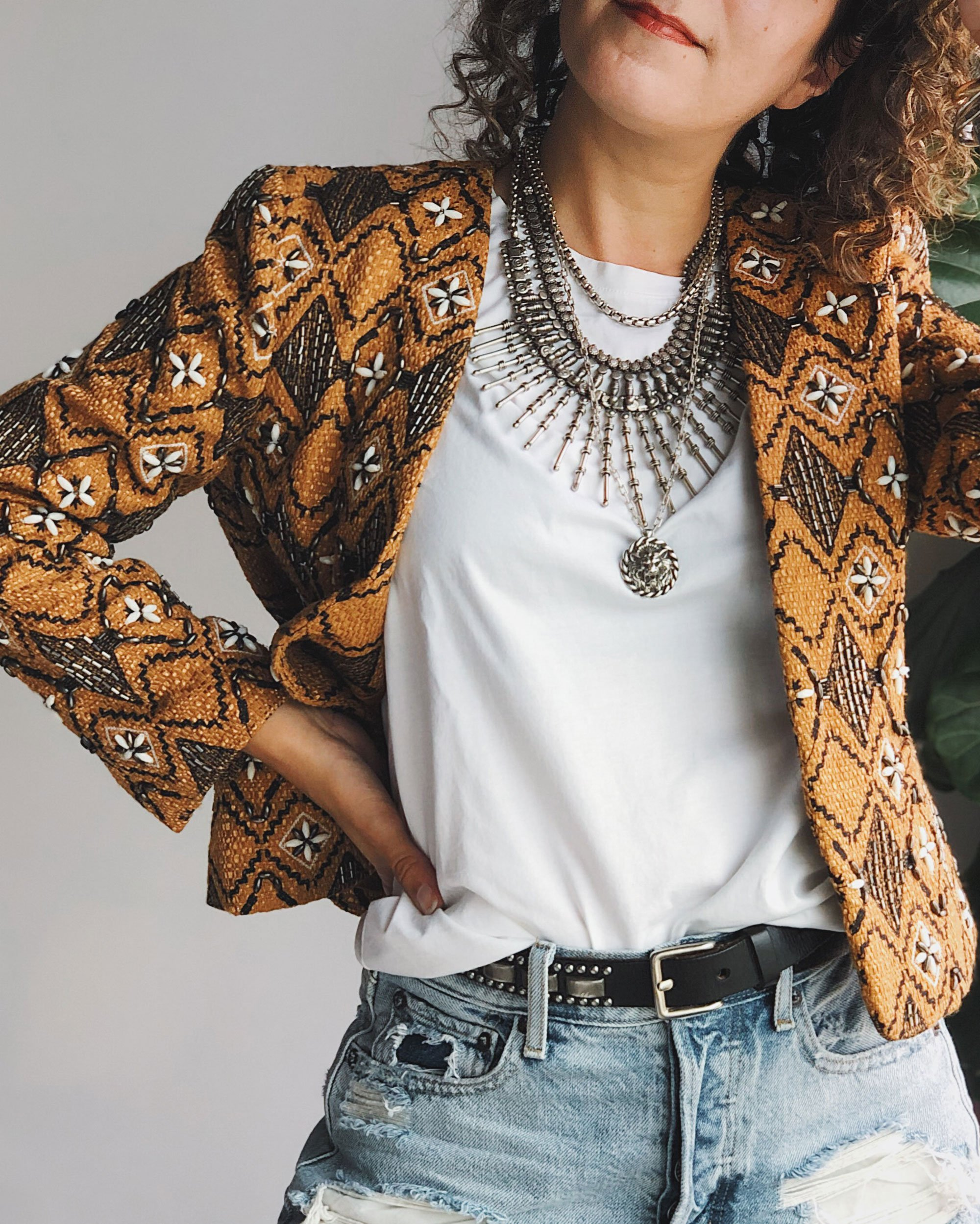 Cropped Beaded Jacket