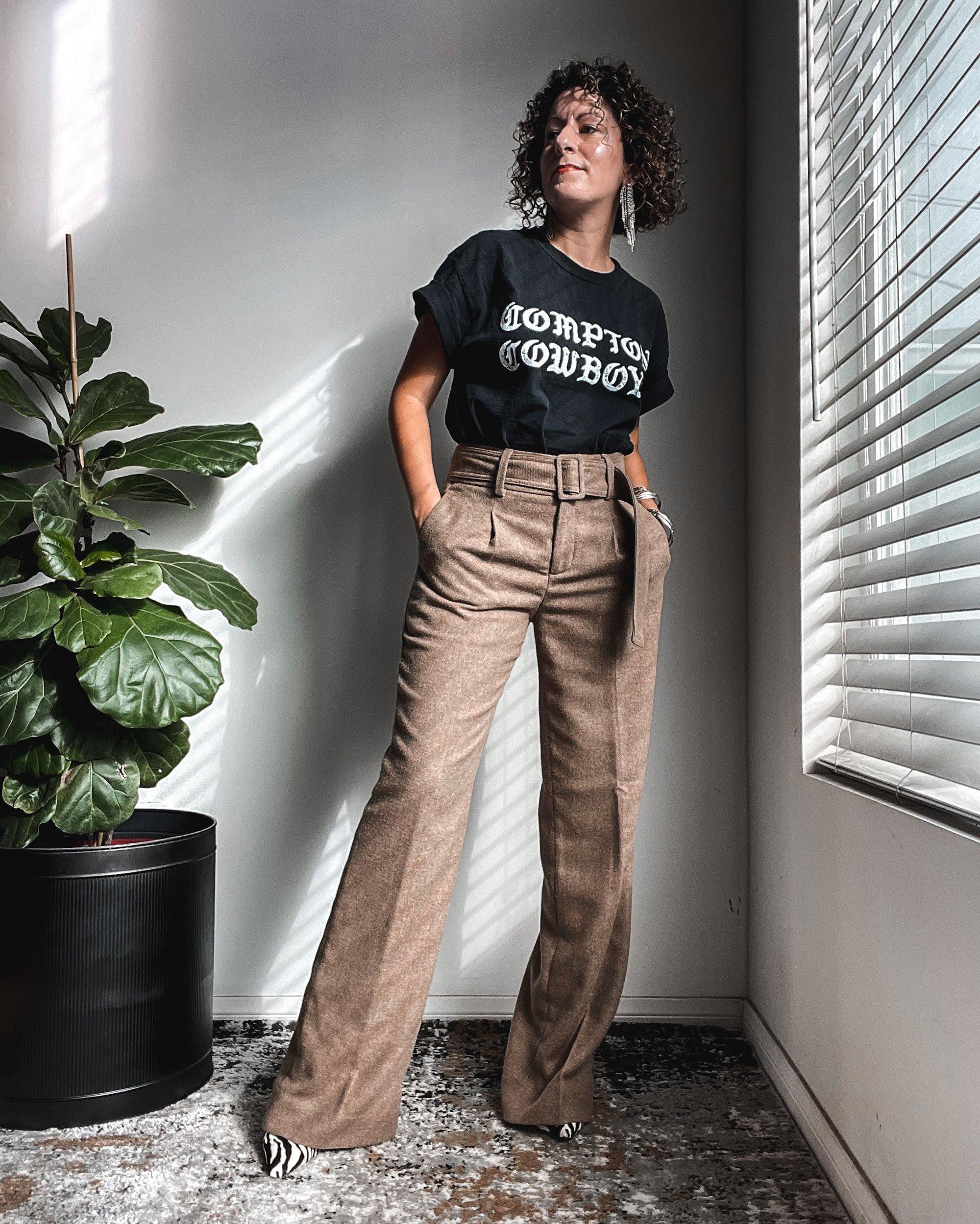 Petite Slim Wide-Leg Pants